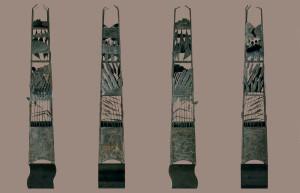 'De Obelisk', 1996, brons